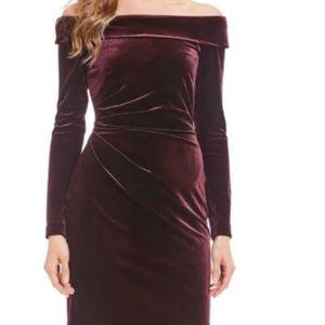 NWOT Eliza J Velvet OTS Cocktail Dres